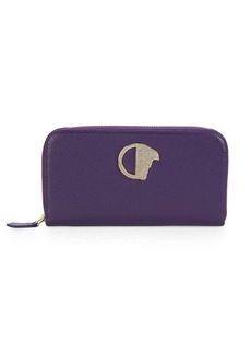 Versace Collection Zip-Around Leather Wallet