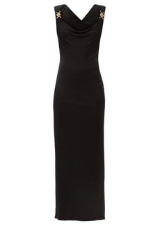 Versace Cowl-neck jersey dress