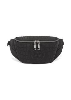 Versace Crocodile-texture logo belt bag