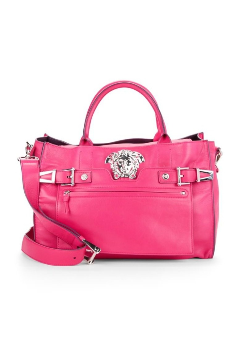 Versace Crossbody Leather Tote Bag