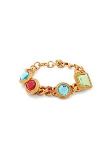Versace Crystal-embellished curb chain bracelet