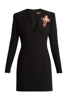 Versace Crystal-embellished silk dress
