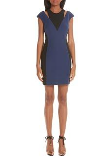 Versace Cutout Colorblock Dress