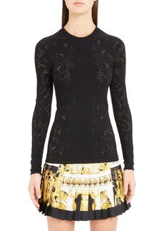 Versace Detail Knit Top