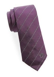 Versace Dot And Logo Silk Tie