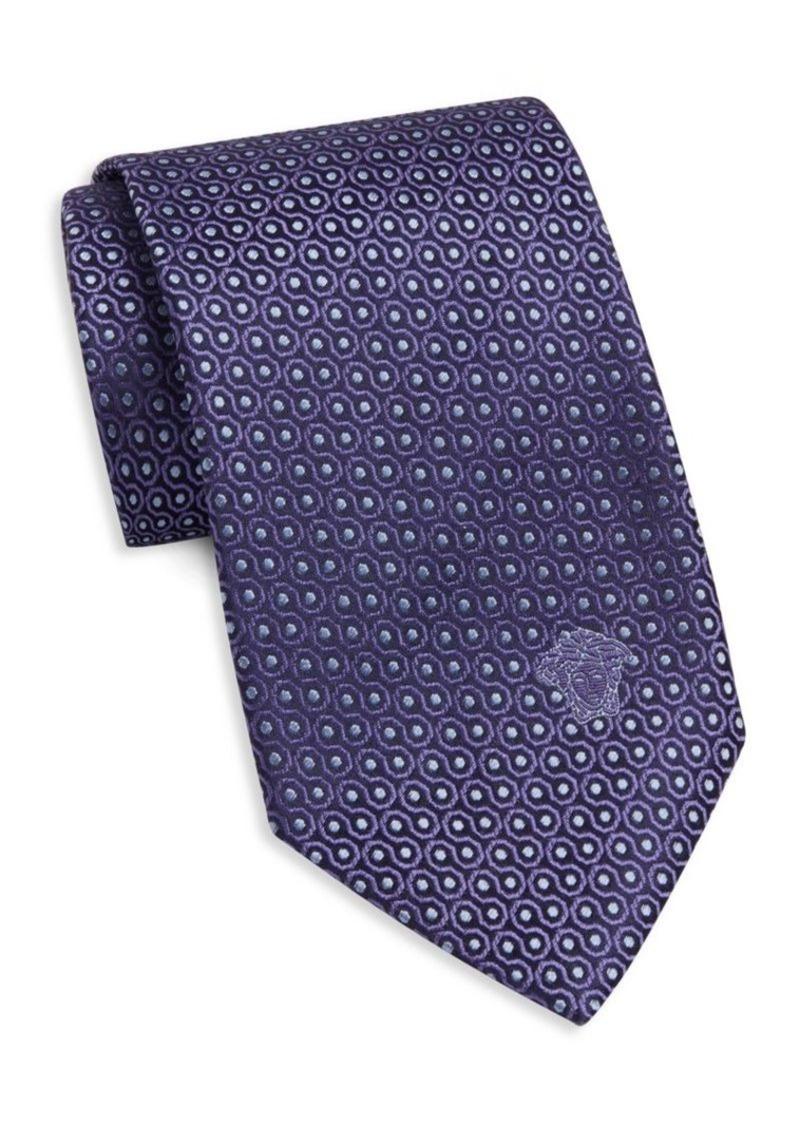 Versace Dot Print Silk Tie