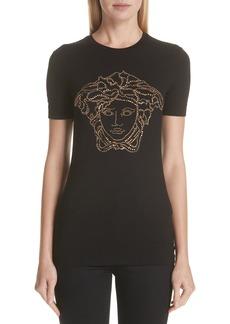 Versace Embellished Medusa Graphic Tee