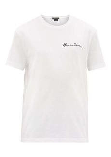 Versace Signature-embroidered cotton-jersey T-shirt