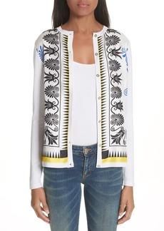 Versace Collection Eros Silk Blend Cardigan