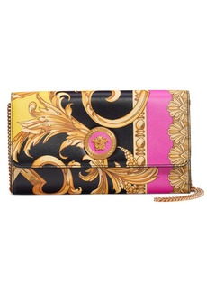 Versace First Line Barocco Icon Leather Wallet on a Chain