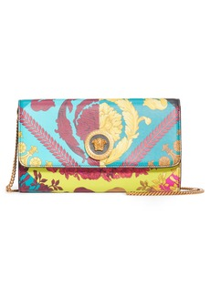 Versace First Line Voyage Barocco Print Wallet on a Chain