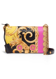 Versace First Line Barocco Icon Painted Leather Shoulder Bag