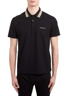 9dffbdb2111c Versace Versace Collection Frame Print Collar Polo | Casual Shirts