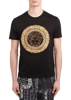 Versace Embroidered Medusa T-Shirt