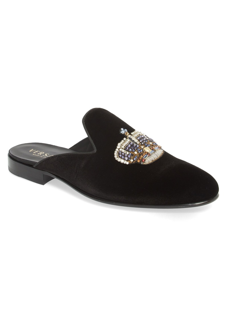 3d1bac7192d Versace Versace First Line Gianni Embellished Crown Loafer Mule (Men ...
