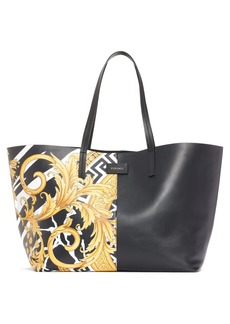Versace First Line Half Print Tote