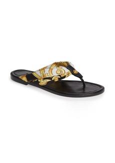 Versace First Line Hibiscus Thong Sandal (Women)