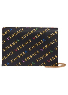 Versace First Line Logo Leather Wallet on a Chain