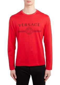Versace Logo Long Sleeve T-Shirt