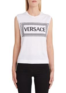 Versace First Line Logo Tank