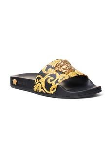 Versace First Line Medusa Hibiscus Slide Sandal (Women)