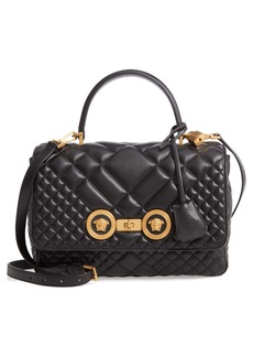 Versace Icon Quilted Leather Top Handle Shoulder Bag