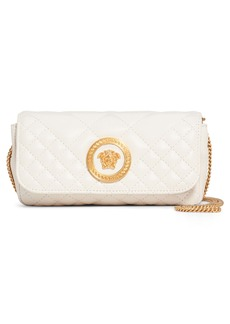Versace First Line Tribute Small Quilted Leather Pouch