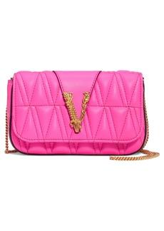 Versace First Line V Matelassé Leather Crossbody Bag