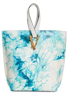 Versace First Line Virtus Leather Bucket Bag