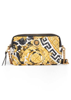 Versace First Line Wild Print Leather Camera Bag