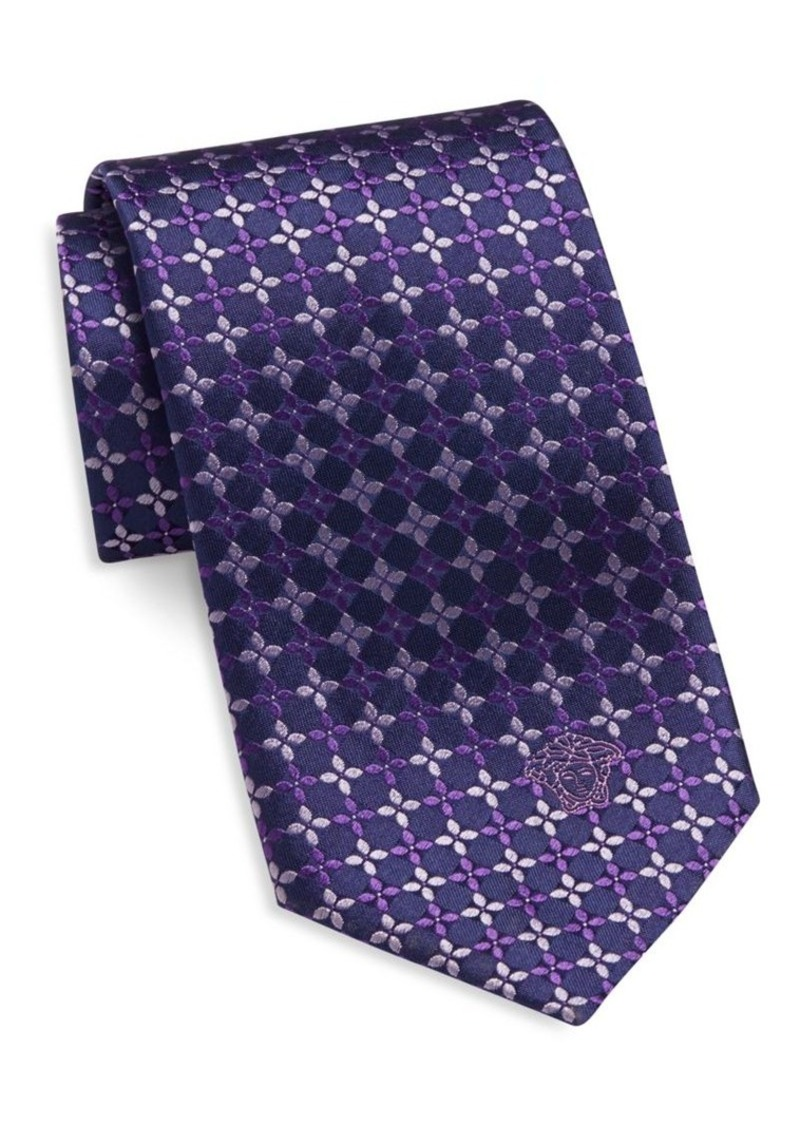 Versace Collection Geometric Floral Silk Tie