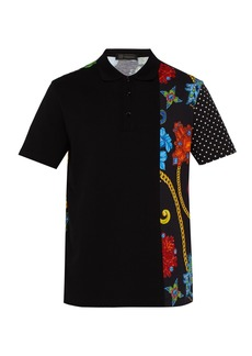 Versace Gioielleria Jetés-print cotton-piqué polo shirt