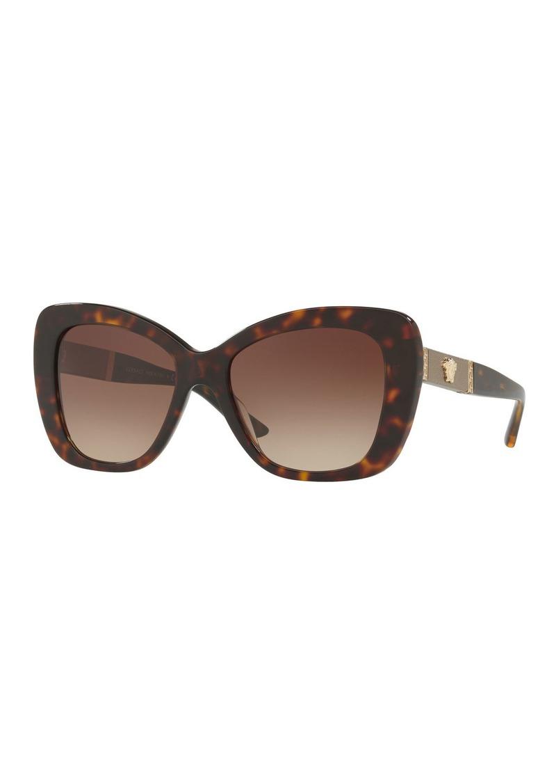 889a7aaa12 Versace Gradient Oversize Cat-Eye Sunglasses