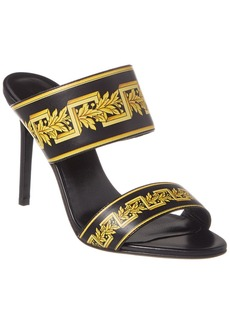 Versace Greca Print Leather Sandal