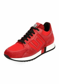Versace Greek Key Running Shoe