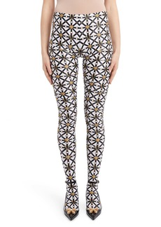Versace Harness Print Footed Leggings