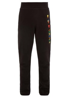 Versace Hearts and logo-embroidered cotton track pants