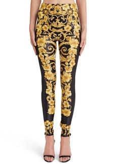 Versace Hibiscus Print Leggings