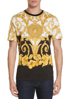 Versace Hibiscus Print T-Shirt