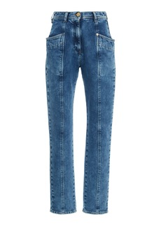 Versace High-Rise Straight-Leg Jeans