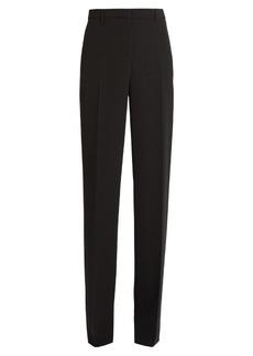 Versace High-rise straight-leg silk trousers