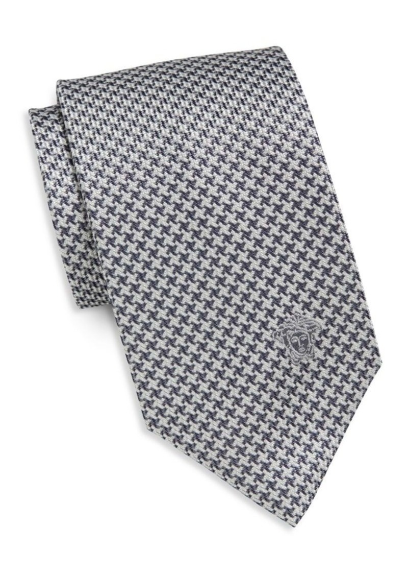 Versace Collection Houndstooth Silk Tie