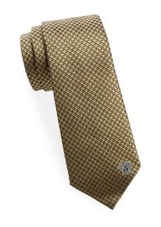 Versace Houndstooth Silk Tie