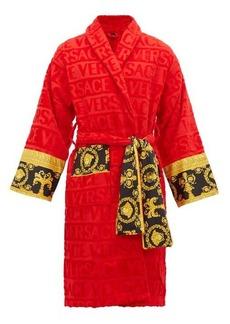 Versace I Love Baroque logo-jacquard cotton bathrobe