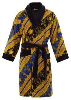 Versace I Love Baroque printed cotton bathrobe
