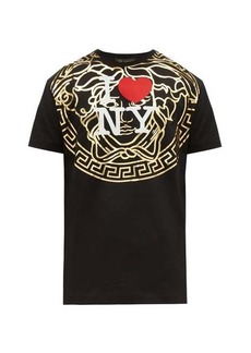 Versace I Love NY-print cotton T-shirt