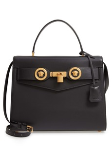Versace Icon Leather Top Handle Shoulder Bag