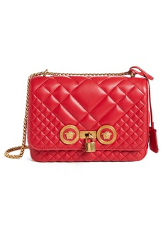 Versace Icon Medium Quilted Leather Shoulder Bag