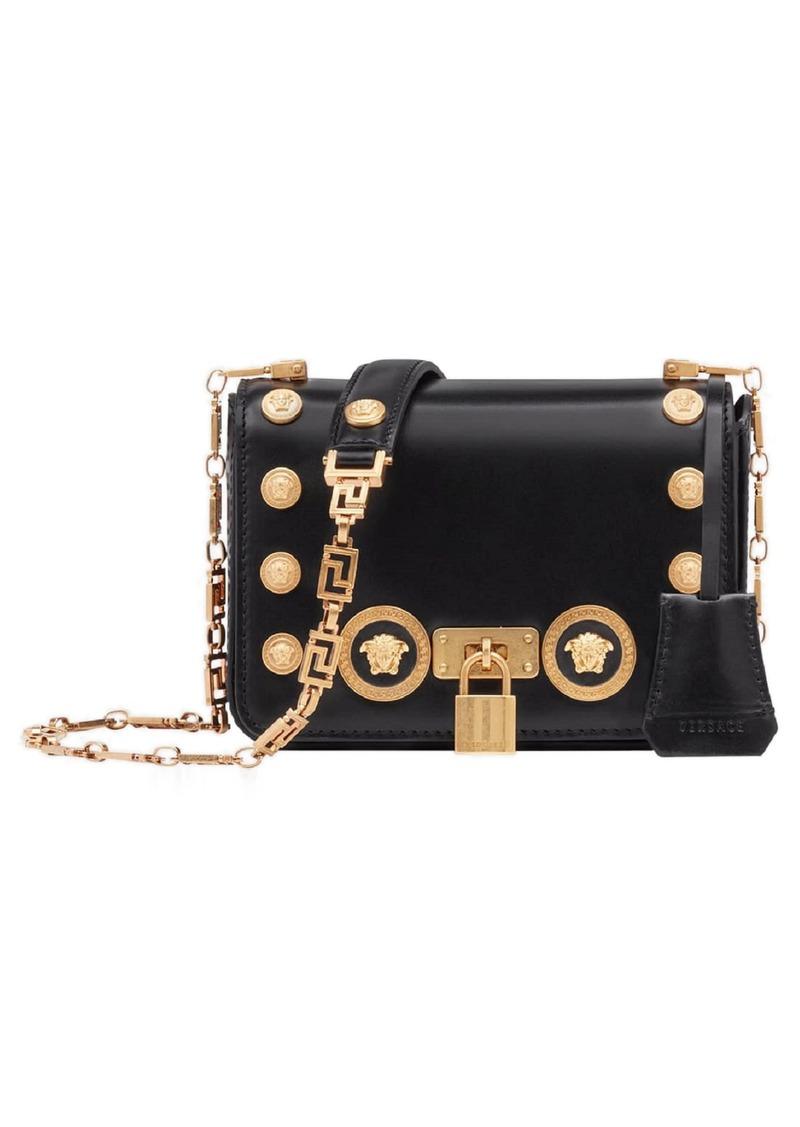 aaaab2e593b Versace Versace Icon Studded Leather Crossbody Bag   Handbags