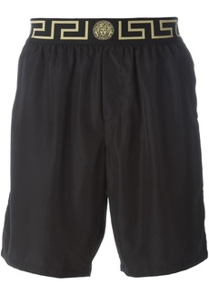 Versace 'Iconic Greca Medusa' swim shorts - Black